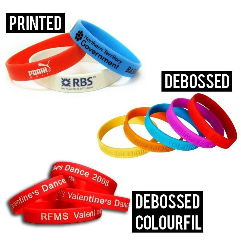 Free Charity Wristbands - The 3 different types of Silicone Wristbands